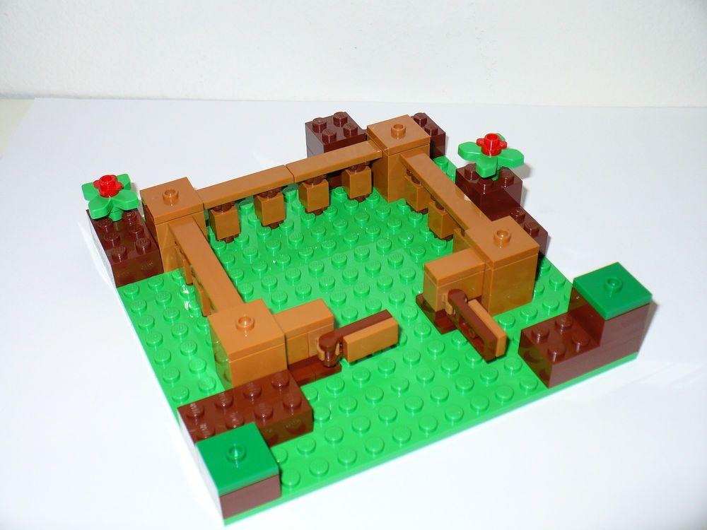 fence gate minecraft. new lego minecraft castle fence pen gate farm 16 x green plate animal 21114 minecraft