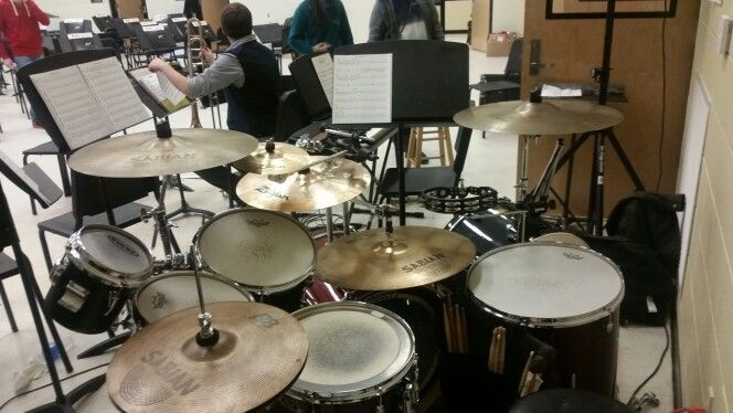 Pearl Export Series For The Pontotoc High School Jazz Band 14 Snare 10 Mounted Tom 12 Mounted Tom 16 Floor Tom 22 Kick Drum 8 With Images Jazz Band Drums Tambourine