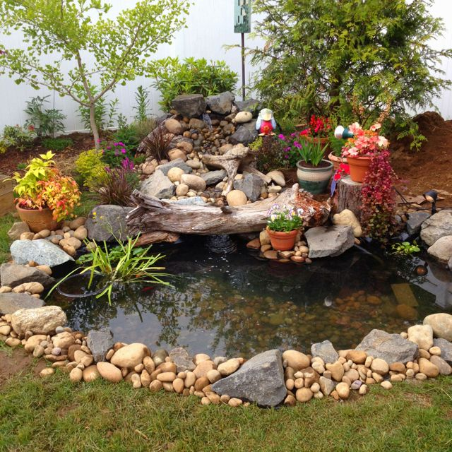My hubby's expanded pond