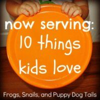10 things kids love is a series to help you find a few things to do or make based on a certain topic that the kids love.