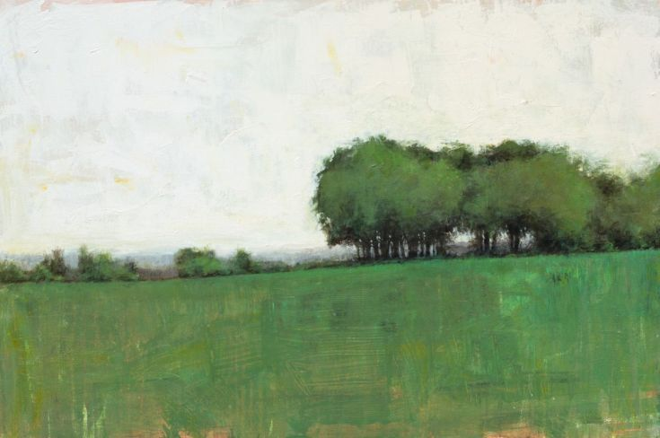 Open Fields 4 27 05 24x36 Painting Contemporary Landscape Painting Abstract Art Landscape