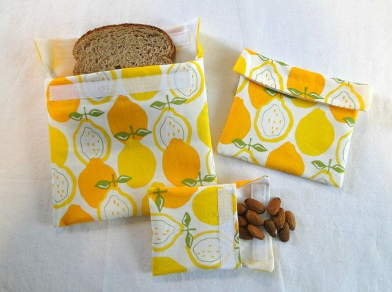 Reusable Snack and Sandwich Bags Reusable Snack by Shoppebylola, $15.00 My kids LOVE these for lunch or an after school snack for sports:)