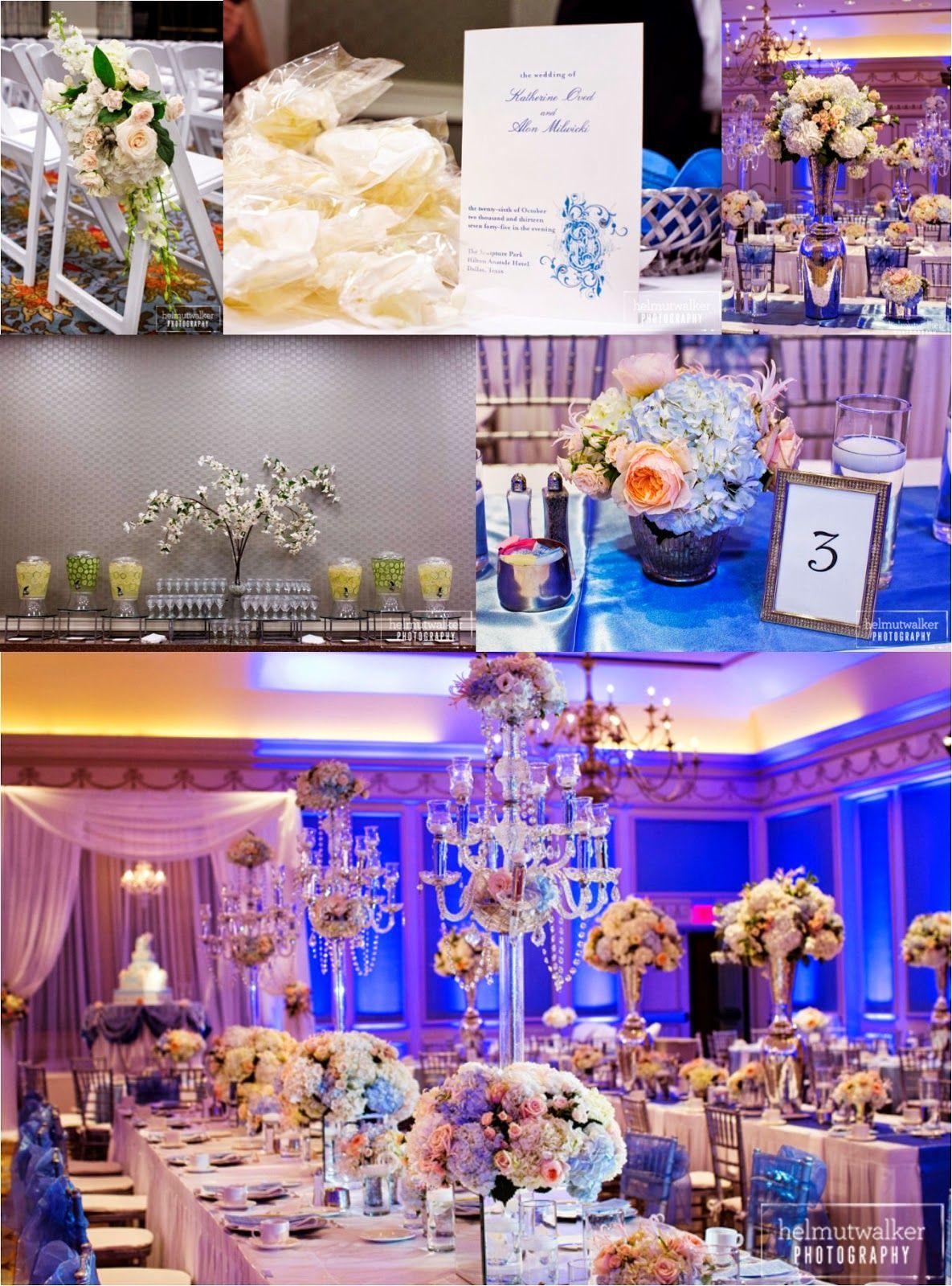 Purple and blue wedding decor  Real Wedding OvedMilwicki  Weddings by StarDust  Pinterest
