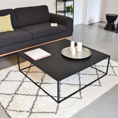 Table Basse Carree En Metal Noir Mat Bricklane Decoclico Factory Decoclico Table Basse Carree Table Basse Table Basse Noire