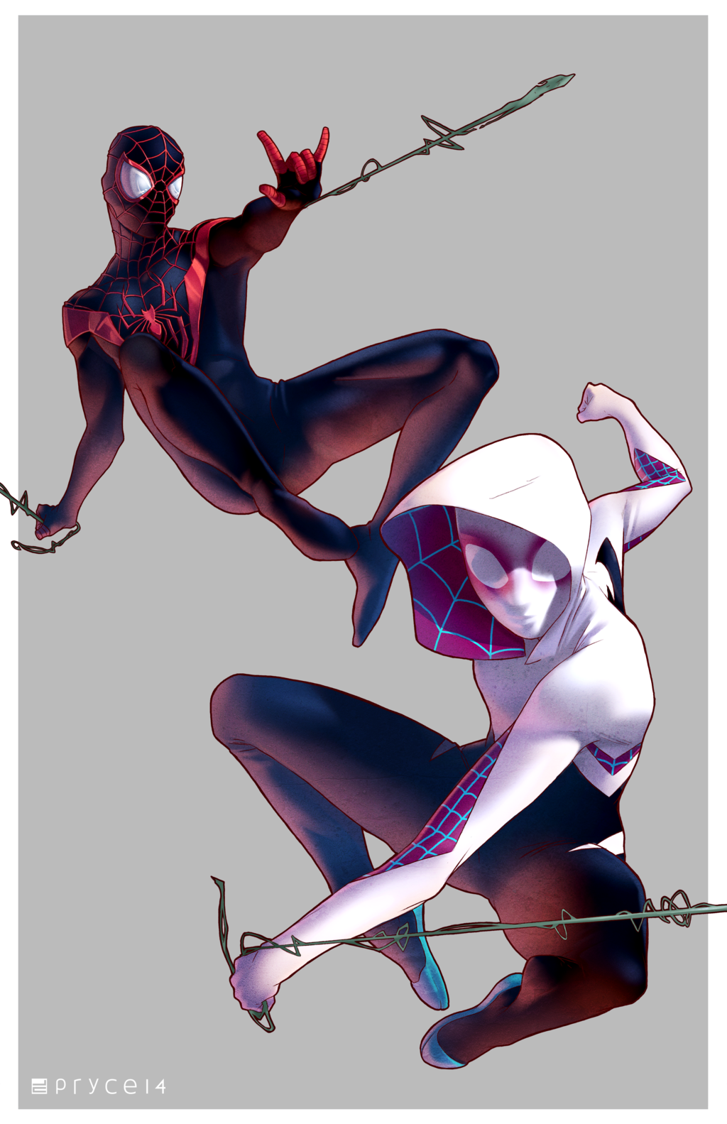 Gwen And Miles Ultimate Spiderman Marvel Spiderman Spider Gwen