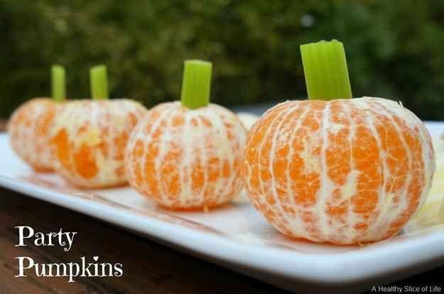 Party pumpkins Halloween Pinterest Healthy halloween snacks - halloween treat ideas for school parties