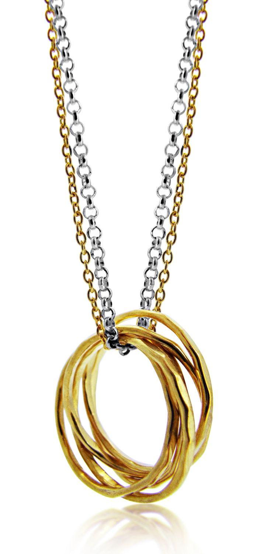 Maya Magal Kisses pendant necklace - Metallic mbgUs3Jku9