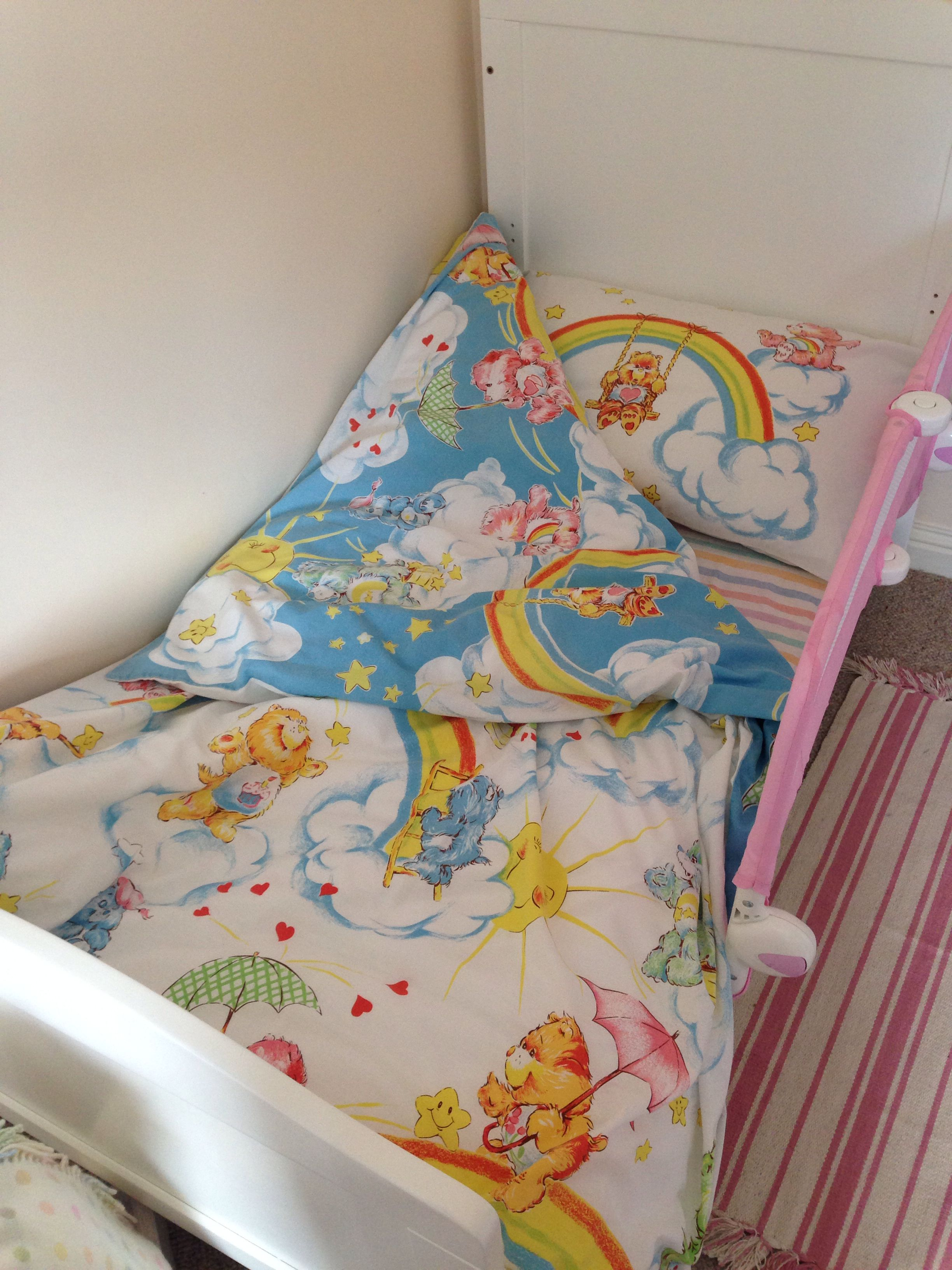 Vintage Care Bear Bedding In Little Girls Room