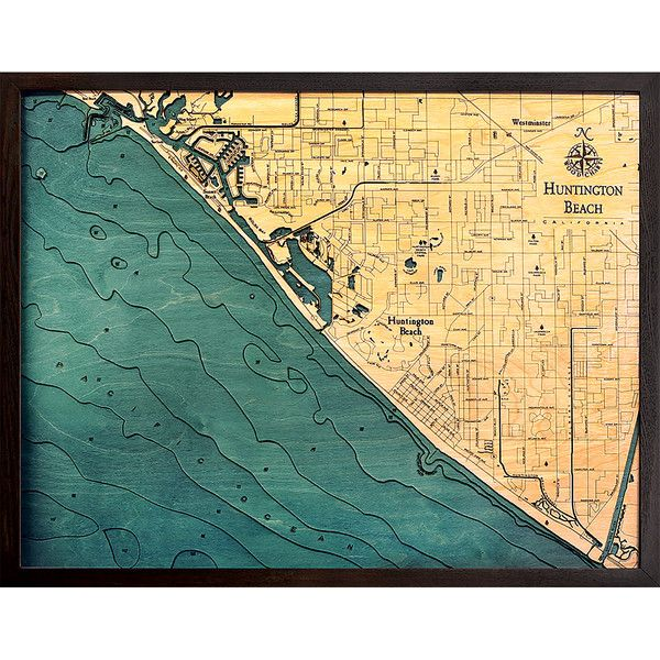 Thos. Baker Huntington Beach (25w 31h) featuring polyvore home home ...