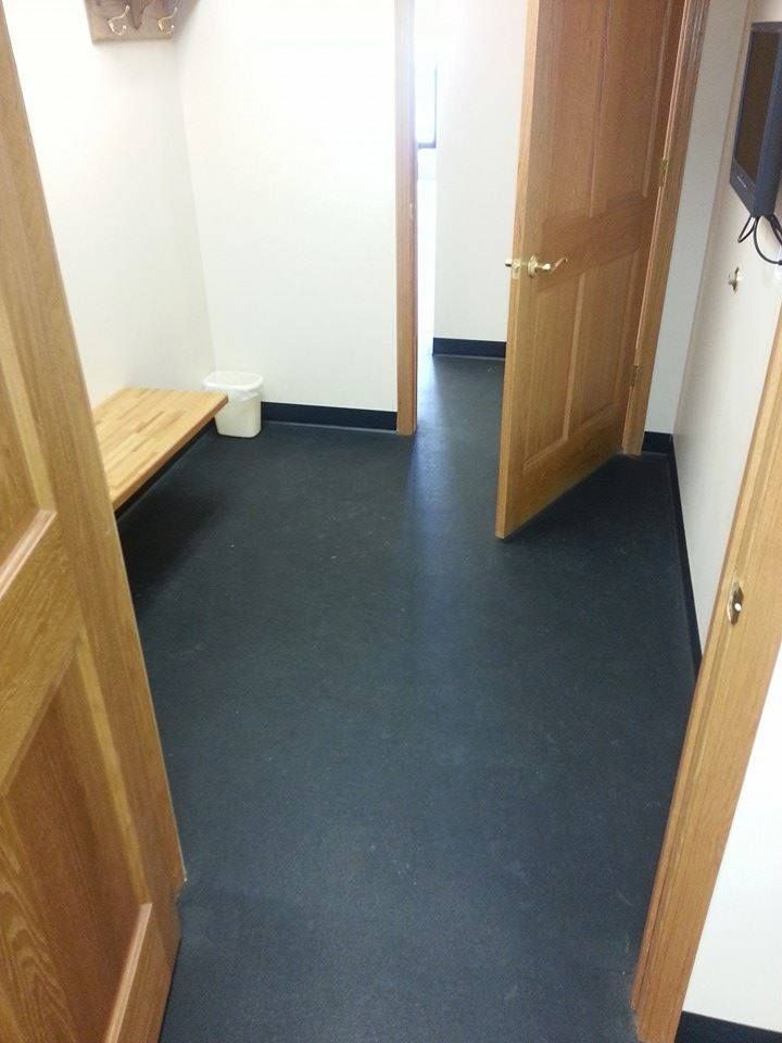 Both: Feeder room with rubber flooring | Flooring, Rubber ...
