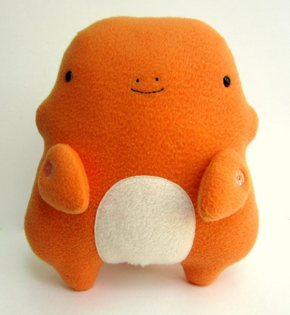 Pokemon Charmander Chubby Charmander Plush van Plushimi op Etsy, $65 ...