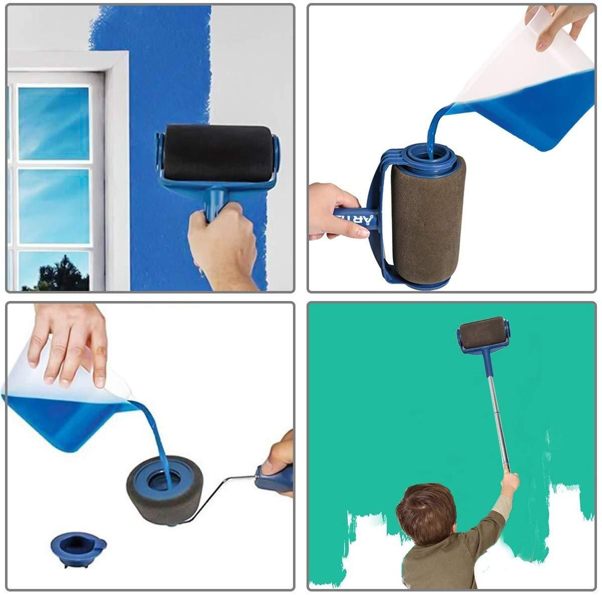 Multifunctional Paint Roller Brush Tools Set 8 Pcs In 2020 Paint Roller Roller Brush Paint Runner
