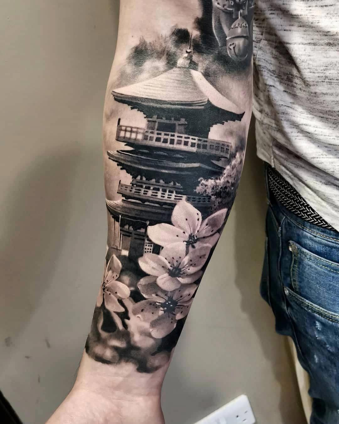 Japanese Temple Tattoo Meaning : japanese, temple, tattoo, meaning, Japanese, Tattoos, Meaning, #Japanesetattoos, Forearm, Tattoos,, Guys,, Temple, Tattoo