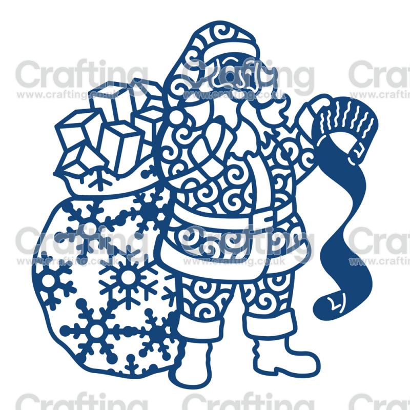 Tattered Lace Dies Santa Tattered lace cards, Tattered
