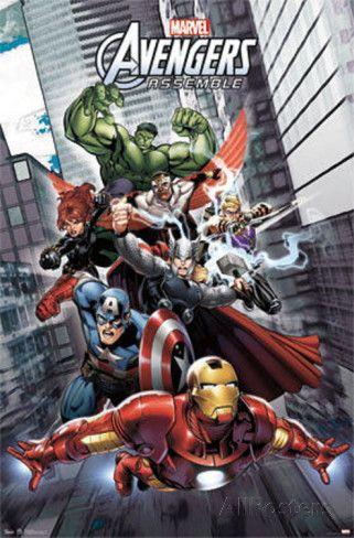 avengers assemble comics poster poster prints avengers. Black Bedroom Furniture Sets. Home Design Ideas
