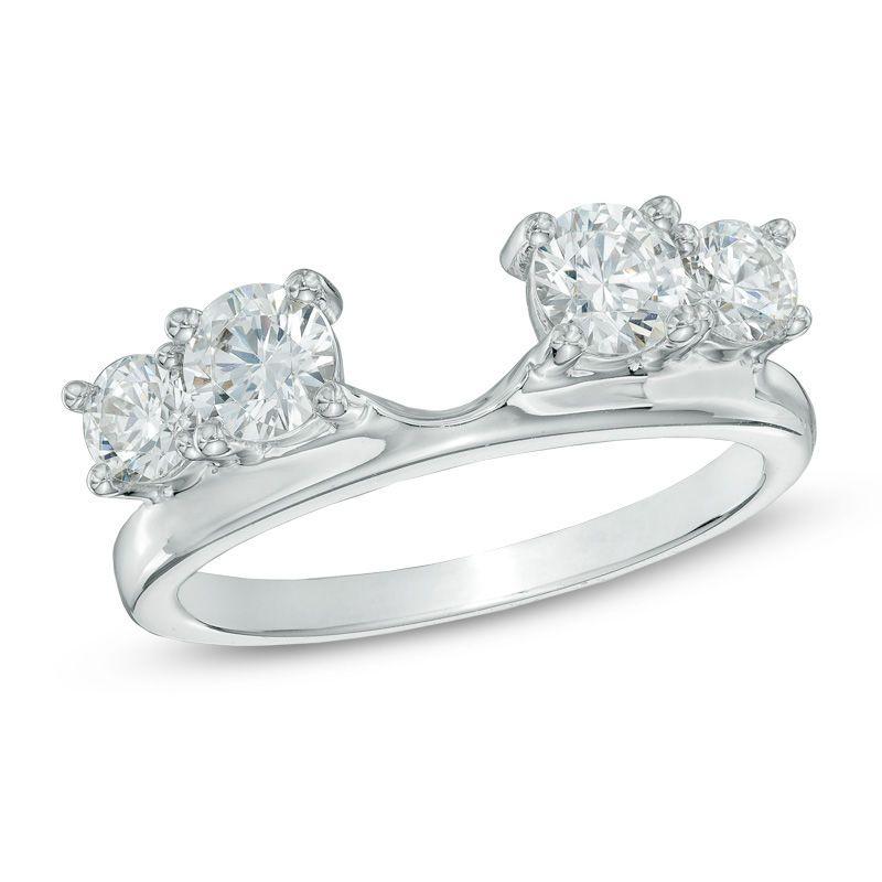 1 ct tw diamond solitaire enhancer in 14k white gold