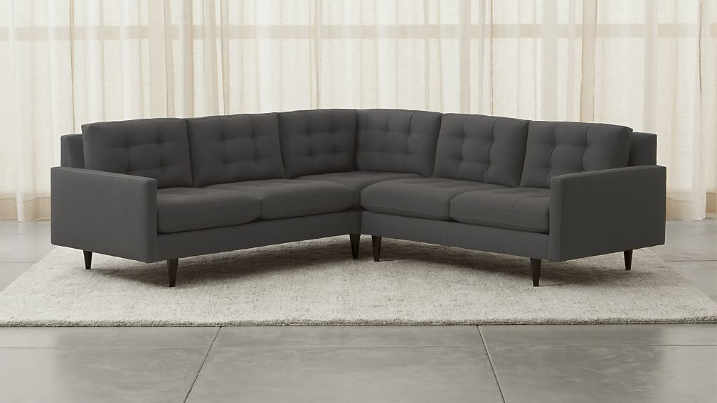 Petrie 2-Piece Sectional Sofa | Crate and Barrel : crate and barrel petrie sectional - Sectionals, Sofas & Couches