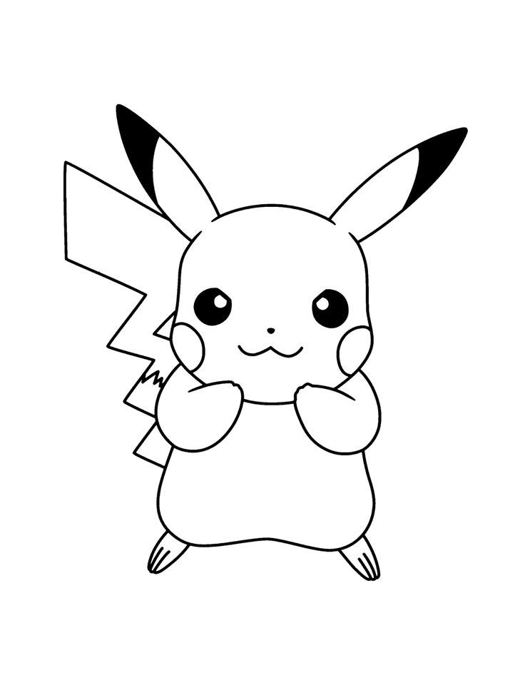 pikachu ausmalbild | Coloriage pikachu, Dessin pikachu ...