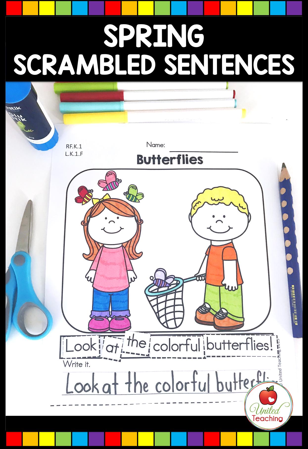 Spring Math And Literacy Activities Kindergarten In