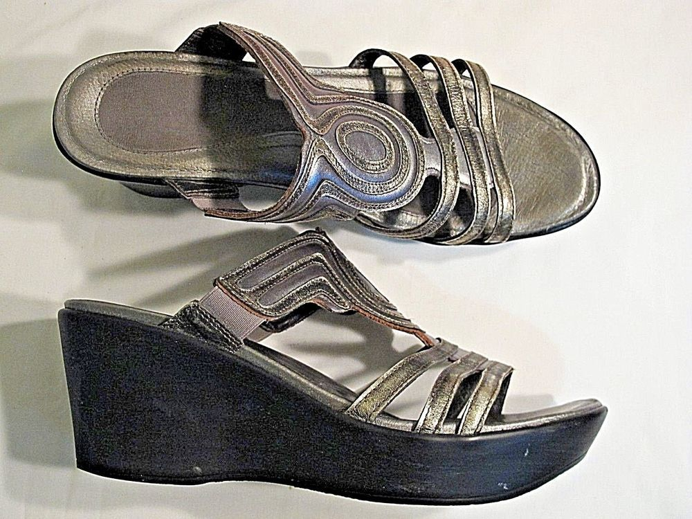 ddcb461e3c Women's Size 10 (EUR 41) Fashion Wedge Sandals (Enchant by Naot) Pewter/Old  Gold #fashion #clothing #shoes #accessories #womensshoes #sandals (ebay  link)