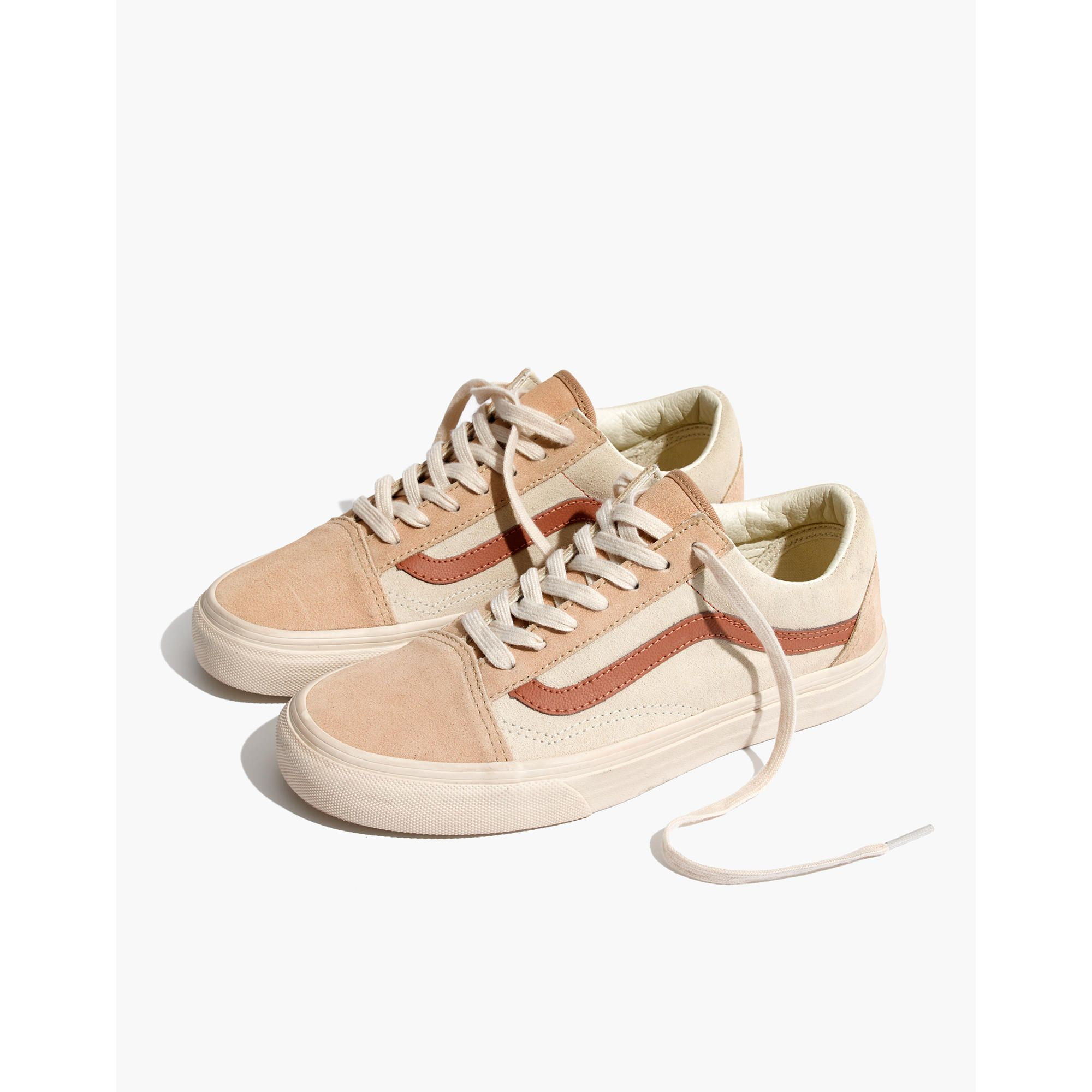 49827ae030 Madewell x Vans® Unisex Old Skool Lace-Up Sneakers in Camel Colorblock