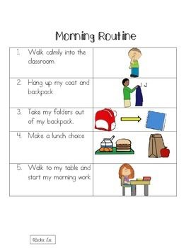 Morning Routine At School Morning Routine Teaching School