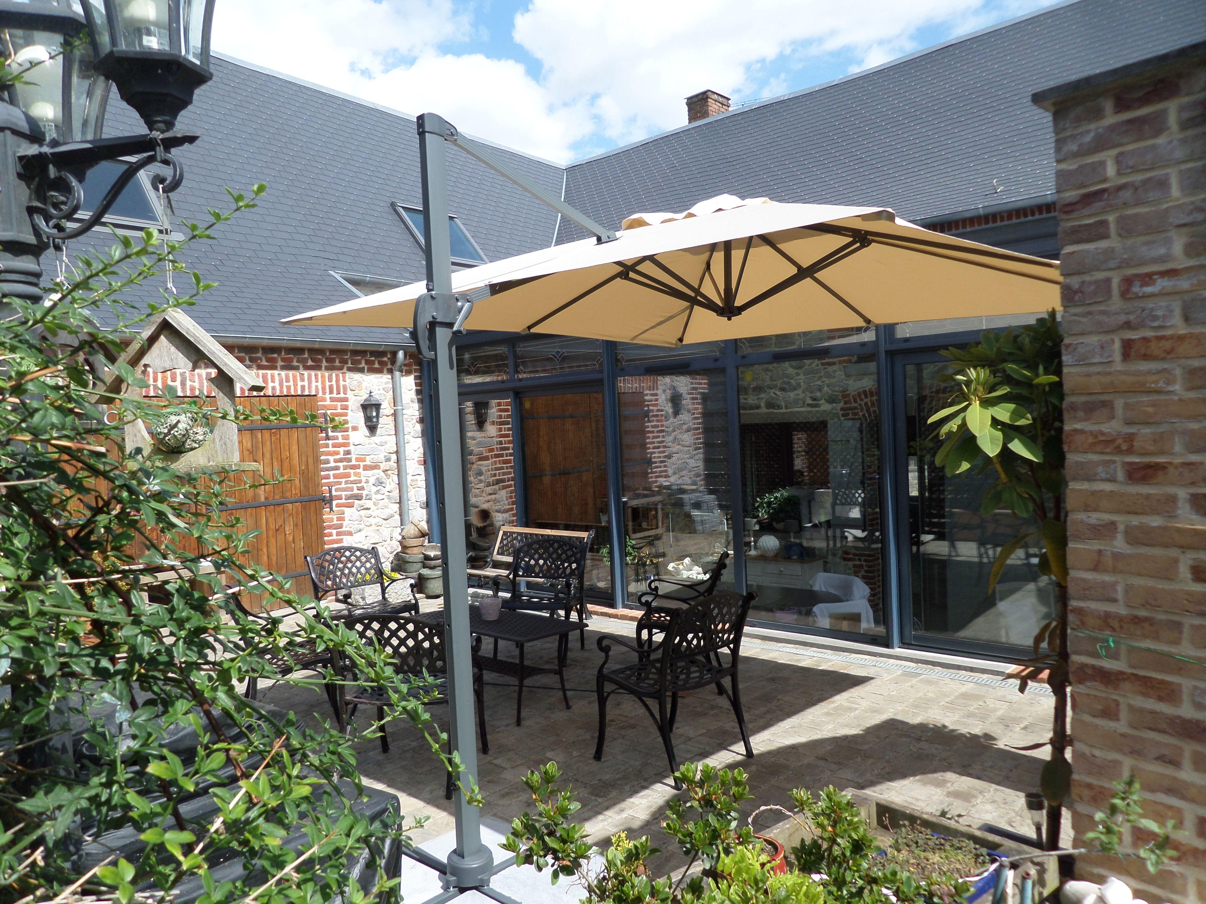 falgos parasol d port carr de 3x3m alice 39 s garden structure robuste en aluminium. Black Bedroom Furniture Sets. Home Design Ideas