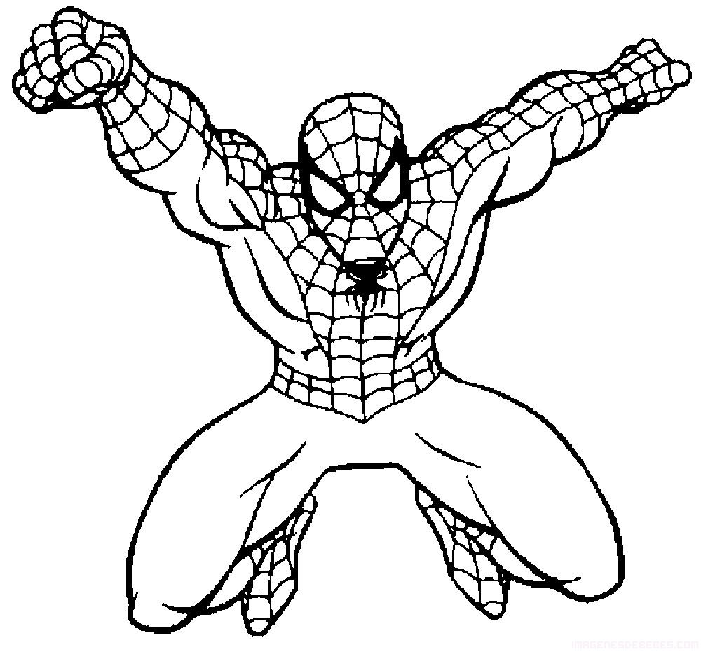 Spiderman para colorear | Colorear | Spiderman coloring, Coloring