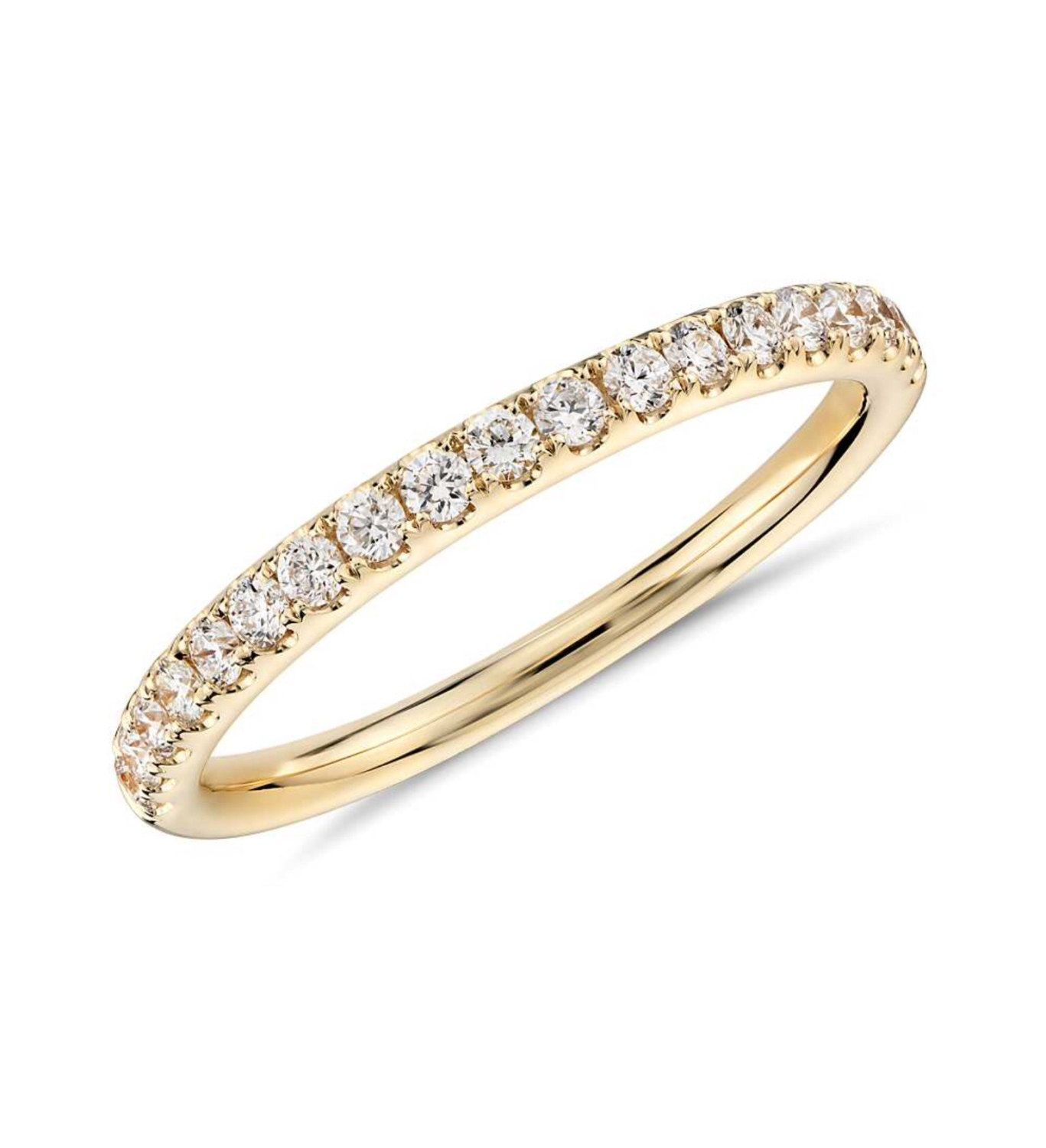 brilliant gold womens itm infinity a ring round band bands cluster diamond dia wg flower
