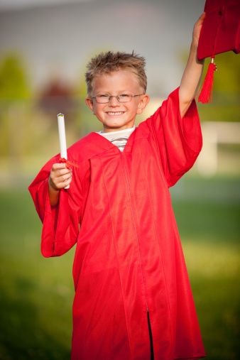 Kindergarten Preschool Graduation Cap Gown Tassels Graduation
