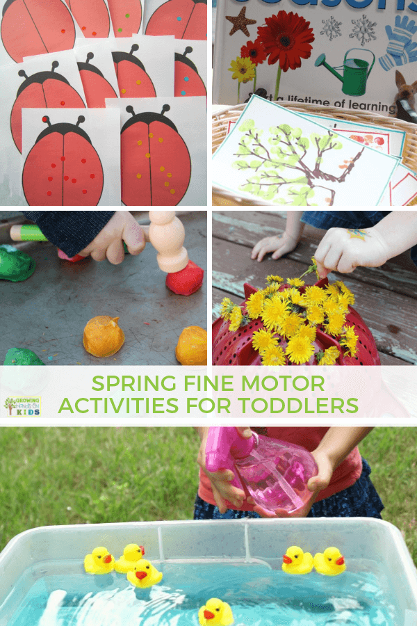 Fine Motor Spring Activities For Toddlers 18 Months To 3 Years Old Toddler Activities Spring Activities Fine Motor Skills Activities