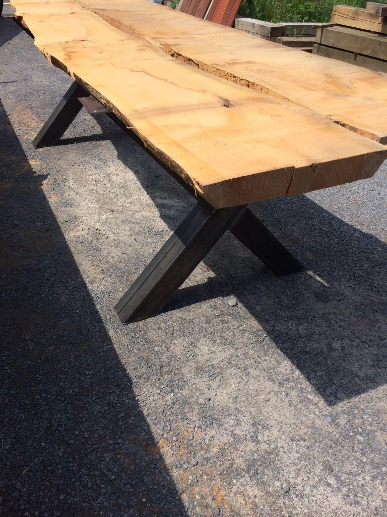 1 Set 2 Beine Fur 250 Ohne Holz Dielen Bohlen U H X Forme 250 Unlackiert 300 Tisch Beine Stahl Untergestell Fur Eichen Dielen Moveis