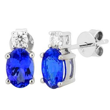 14K White Tanzanite and Diamond Earrings 1.57 TCW-A - http://www.tanzanite.com/product-p/tze26274.htm
