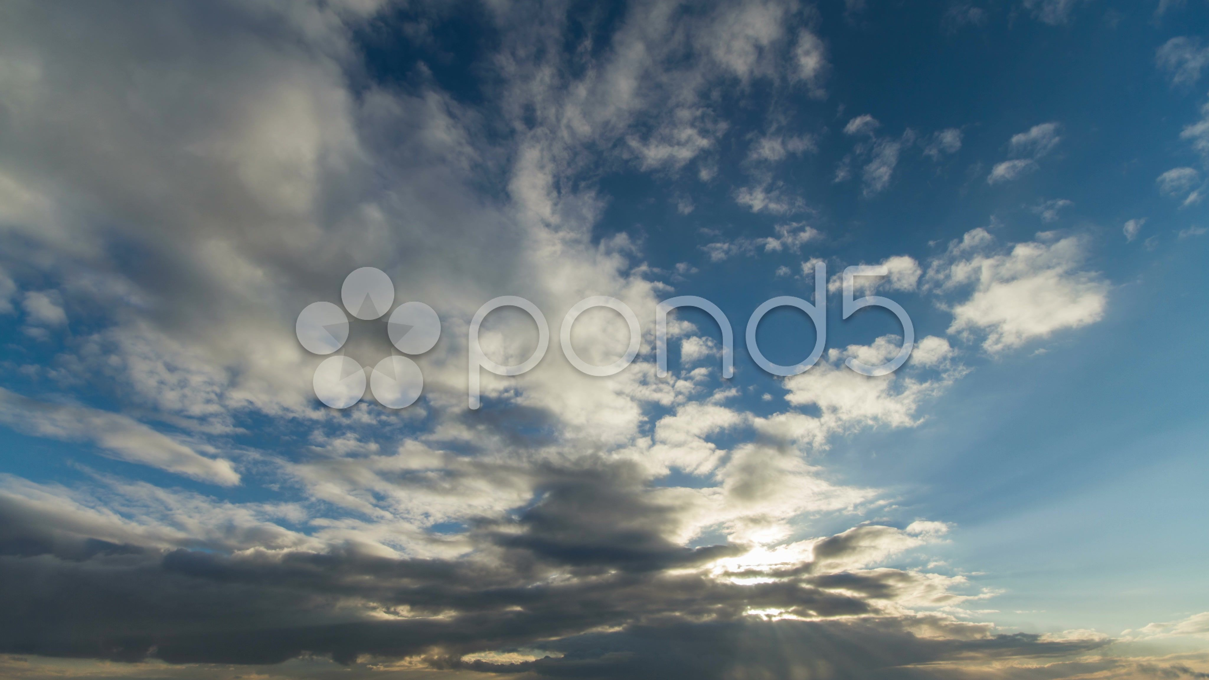 4K. Moving Clouds Timelapse Stock Footage,CloudsMoving