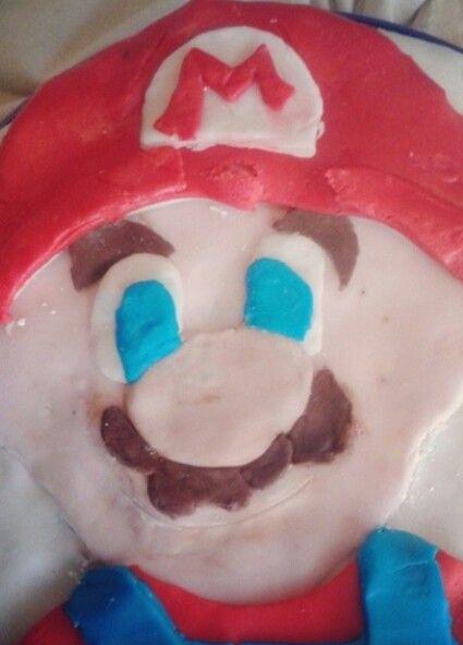 Super Mario-themed birthday cake