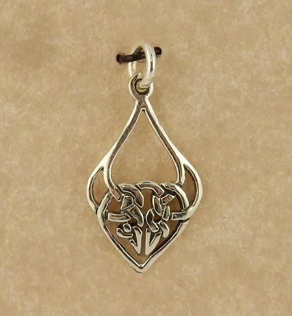 Sterling silver Celtic Knot pendant charm by celtictreasures