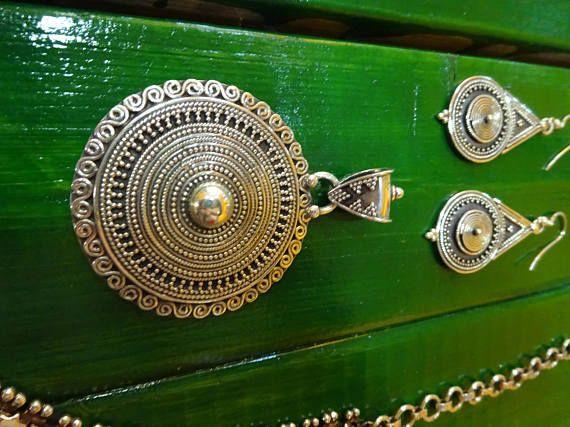 Colgante plata diseño hindú