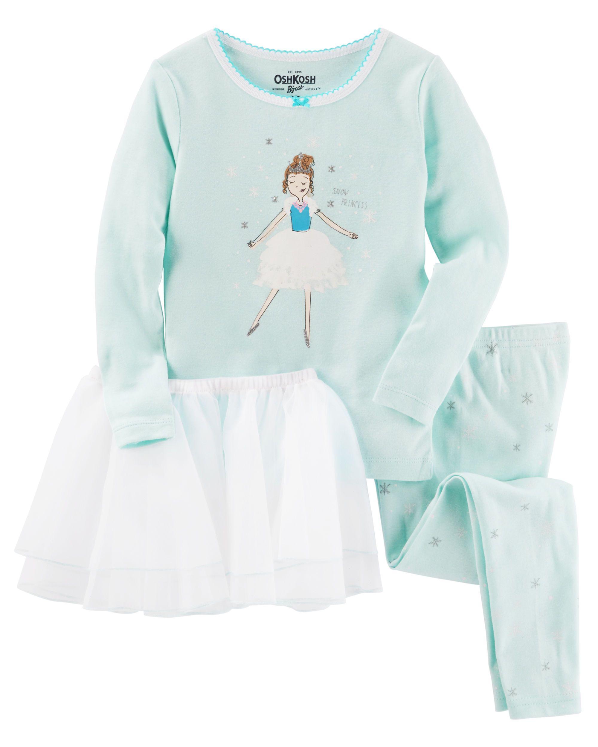 9e70c8083 Baby Girl 3-Piece Ballerina Tutu Cotton PJs from OshKosh B gosh ...