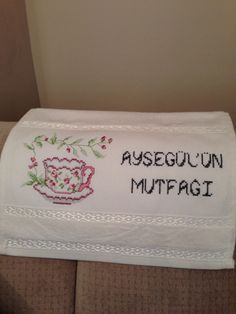 Mutfak havlusu, cross stitch kitchen