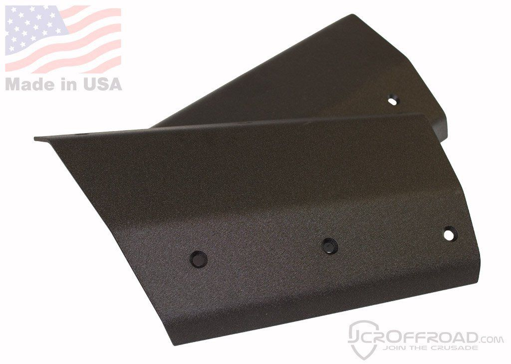 97-01 Jeep XJ BLACK JCR Offroad Rear Lower Quarter Panel-Bumper Armor Cut