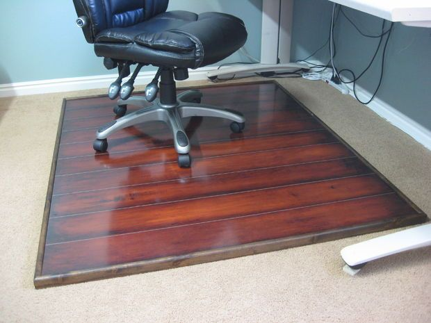Diy Chair Mat For Hardwood Floor Wedding Covers Wholesale Uk Wooden Pinterest Mats And Office Instead Of Plastic