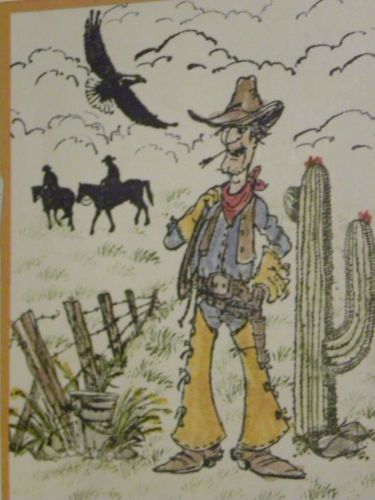 Barbwire fence. Cowboy Slim, cowboys, Eagle, clouds, grass sold separately. Made by Art Impressions. All can be found in my ebay store & Can be purchased in my ebay Store Pat's Rubber Stamps & Scrapbooks, click on the picture to see it, or call me 423-357-4334 with order, or come by 1327 Glenmar Ave. Mt Carmel, TN 37645, Pat's Rubber Stamps & Scrapbook supplies 423-357-4334. We take PayPal. You get free shipping with the phone orders of $30.00 or more. Use my search engine to find them