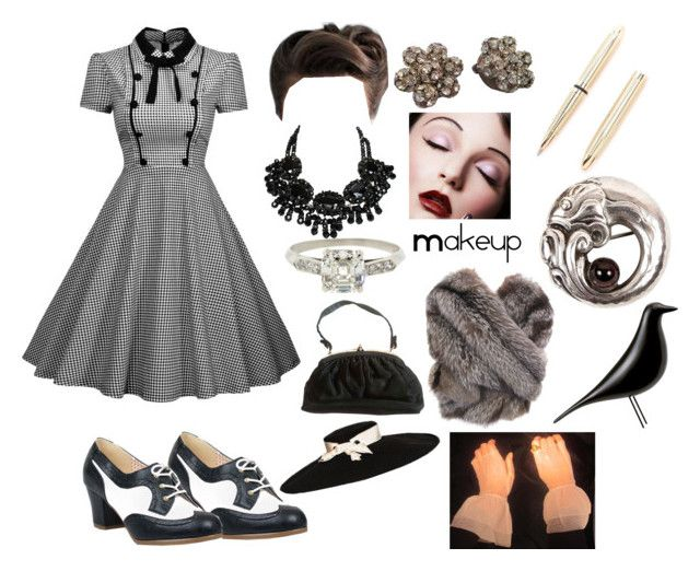 """1940s Set"" by kaninekiller on Polyvore featuring But Another Innocent Tale, Fisher Space Pen, Georg Jensen, Vitra and 1940s"