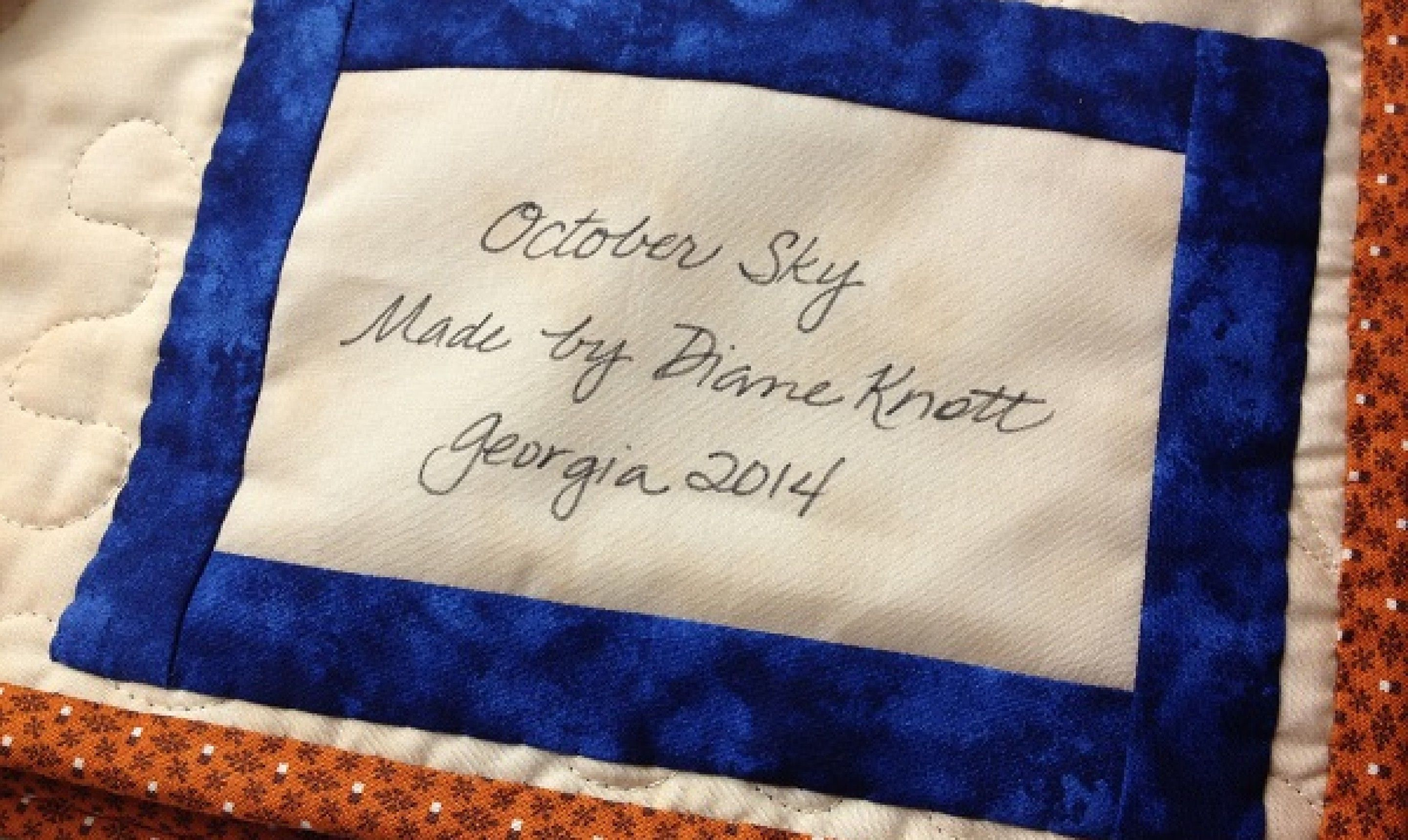 How to label a quilt with your name cause you need to
