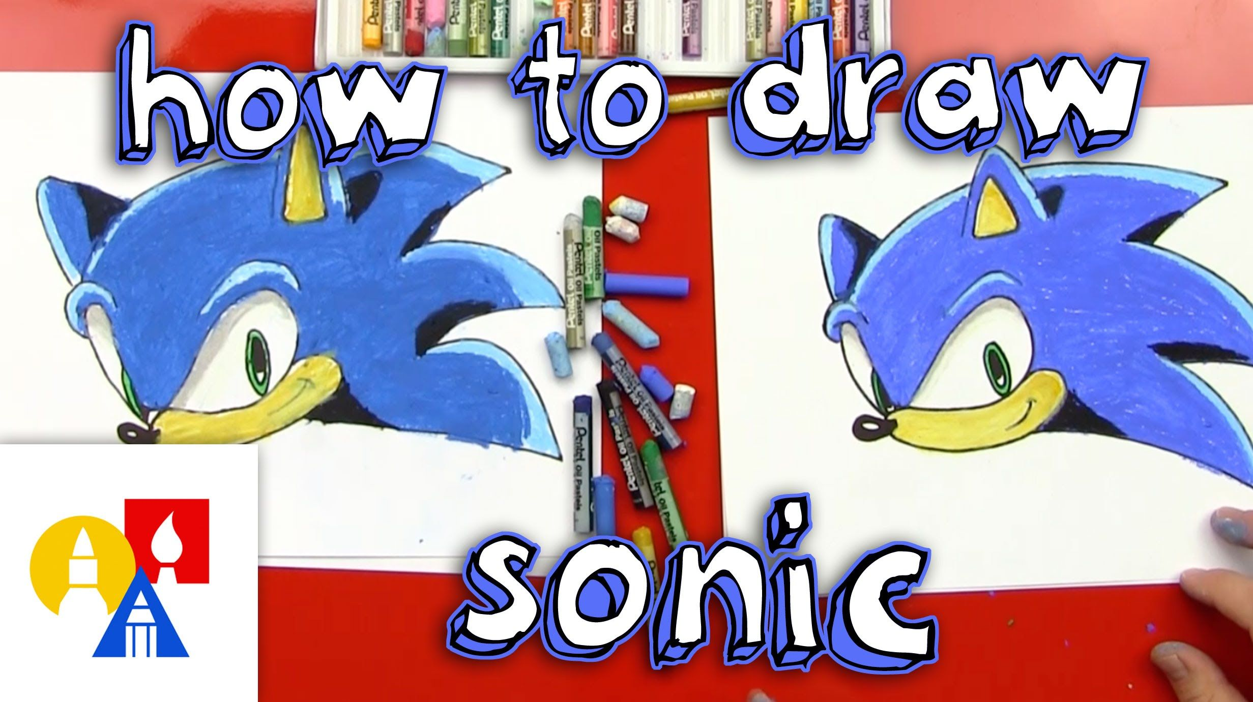 How To Draw Sonic The Hedgehog Art For Kids Hub How To Draw Sonic Easy Cartoon Drawings