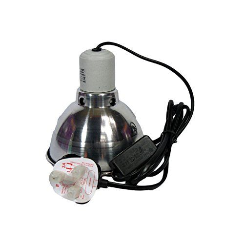 Clamp Lamp Reflector Dome And Grill Silver 60w For Reptile