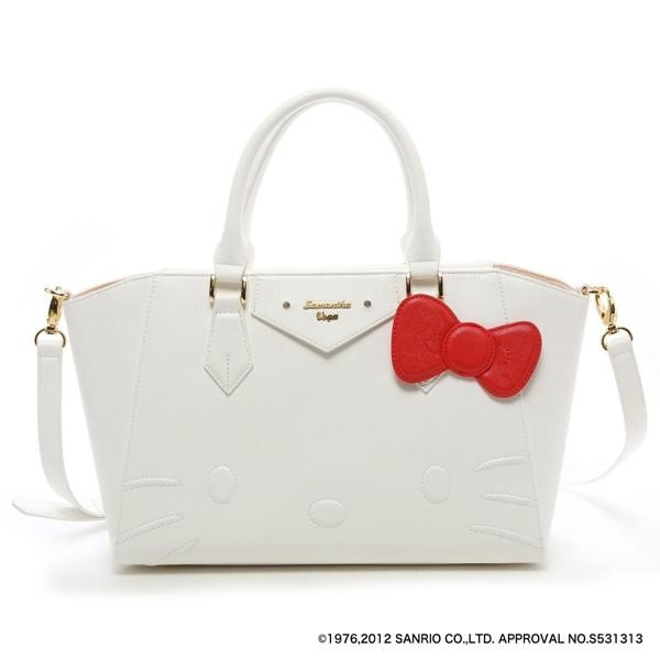 Samantha Thavasa Vega X Hello Kitty Azayle Tote Shoulder Bag White Large Japan Hello Kitty Handbags Hello Kitty Purse Hello Kitty Bag