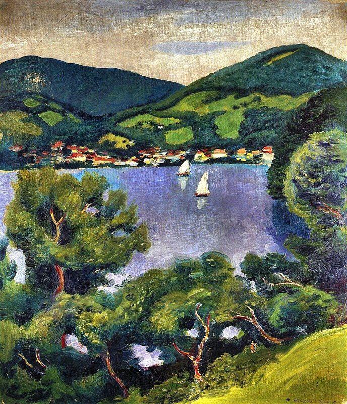 bofransson:  August Macke-Tegernsee-Landschaft (1910)