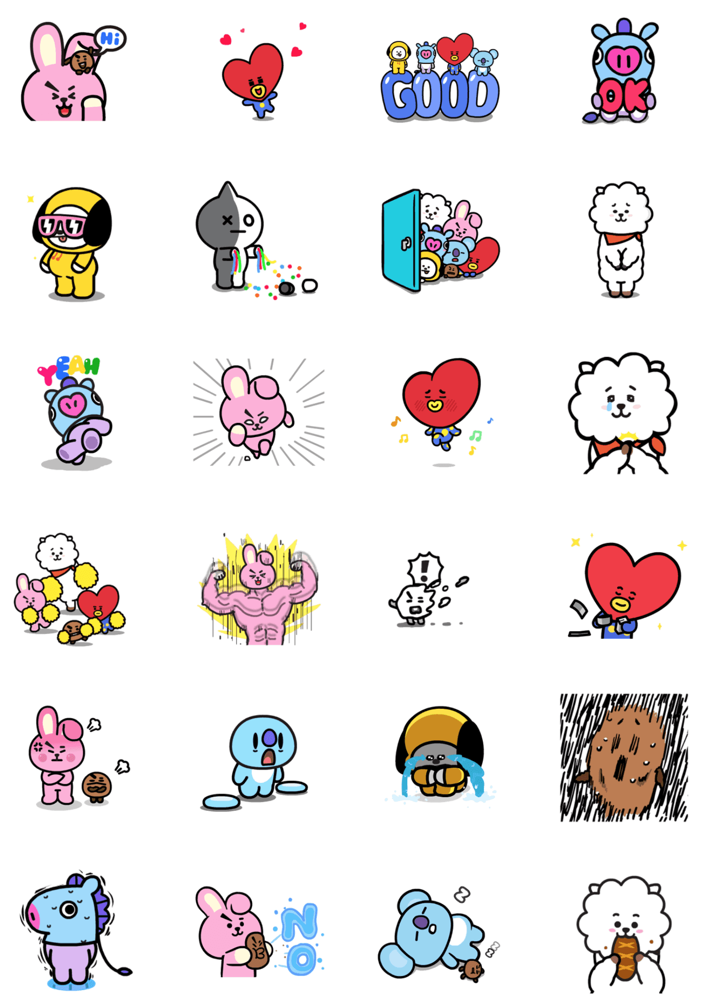 BT21 Sticker LINE BTS Resmi Hasil Kolaborasi bersama LINE Friends ... for Couple Sticker Line  67qdu