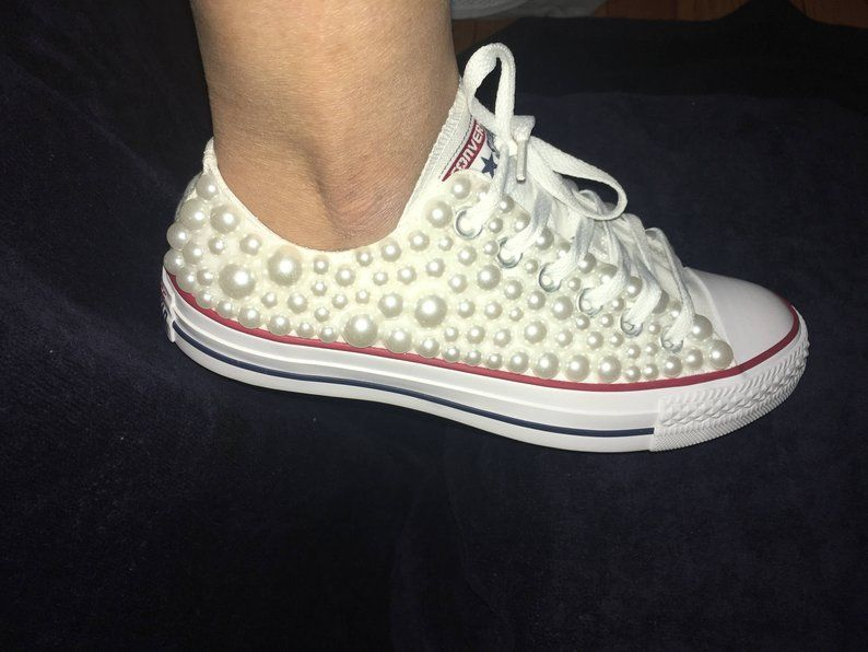 Women's White Pearl High Top Chuck Taylor All Star Converse